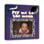 fly me to the moon canvas - Mini Canvas 8  x 8  (Stretched)