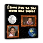 love you to the moon canvas - Mini Canvas 8  x 8  (Stretched)