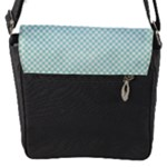 Flap closure messenger bag (Small)- Sweet Smiles 2 - Flap Closure Messenger Bag (S)