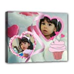 cupcake hearts II - Canvas 14  x 11  (Stretched)