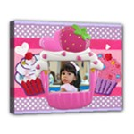 cupcake frame II - Canvas 14  x 11  (Stretched)