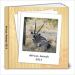 African Animals - 8x8 Photo Book (20 pages)