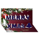 Snowmen merry Christmas 3d Card - Merry Xmas 3D Greeting Card (8x4)