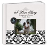 8x8 (DELUXE)- B/W Simple Engagement/Wedding - 8x8 Deluxe Photo Book (20 pages)