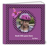 Pink and lilac Picture Deluxe Book 2 8x8  (20 pages) - 8x8 Deluxe Photo Book (20 pages)