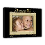 Black and Gold 16x12 Stretched Canvas - Canvas 16  x 12  (Stretched)