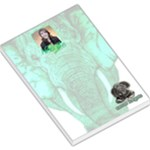 elephant lovers - never forgets - emerald  memo pad - Large Memo Pads
