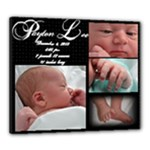Payton birth info - Canvas 24  x 20  (Stretched)