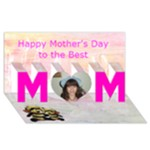 Mom and child s hand print Mother s Day card - MOM 3D Greeting Card (8x4)