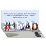 Golf Father s Day card - #1 DAD 3D Greeting Card (8x4)
