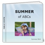 ABCs - Summertime Footprints in the Sand - 8x8 Deluxe Photo Book (20 pages)