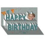 3D Kids Birthday Card - Happy Birthday 3D Greeting Card (8x4)