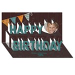 My 3D Kids Birthday Card - Happy Birthday 3D Greeting Card (8x4)