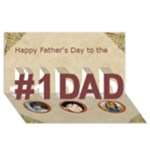 Basket Ball Father s day Card - #1 DAD 3D Greeting Card (8x4)