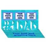 #1 Dad 3D greeting card - #1 DAD 3D Greeting Card (8x4)