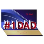 My Perfect Dad 3d Greeting Card - #1 DAD 3D Greeting Card (8x4)