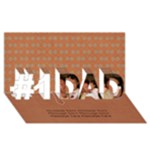 3D Card: No.1 Dad - #1 DAD 3D Greeting Card (8x4)