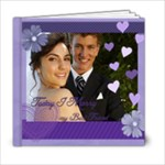 Wedding purple Book - 6x6 Photo Book (20 pages)