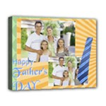 fathers day, dad, stong, number 1, family, happy, love, thank you - Deluxe Canvas 20  x 16  (Stretched)