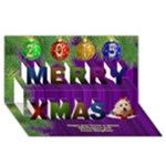 Jans 3D Card - Merry Xmas 3D Greeting Card (8x4)
