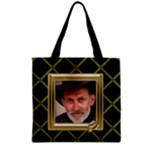 Black and Gold Full Grocery Tote Bag