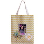 Classic Tote Bag: Yellow Chevron
