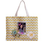 Tiny Tote Bag :  Yellow Chevron - Mini Tote Bag