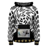 Black and White Womens Hoodie - Women s Pullover Hoodie