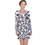 My Black and White Nightdress - Long Sleeve Nightdress