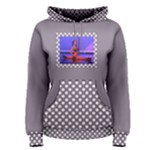Mauve spots Pullover Hoodie - Women s Pullover Hoodie
