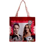 love - Zipper Grocery Tote Bag
