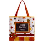 Tangerine Breeze Zipper Tote 2 - Zipper Grocery Tote Bag