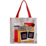 Teacher Zipper Tote 1 - Zipper Grocery Tote Bag