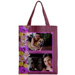 Purple Poppy Zipper Classic Tote Bag