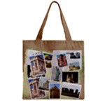 Summer Zipper grocery Tote Bag