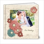 6x6 Floral Wedding Album - 6x6 Photo Book (20 pages)