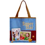 star - Zipper Grocery Tote Bag