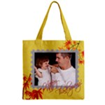 fall - Zipper Grocery Tote Bag