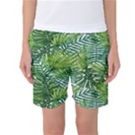 green leaf - Women s Basketball Shorts