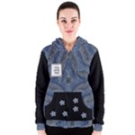 Blue/Black Womans Zipper Hoodie - Women s Zipper Hoodie