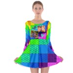 Rainbow Stitch - Long Sleeve Skater Dress