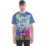 sunset robot shirt - Men s Sport Mesh Tee