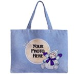 Blue Snowman tote - Mini Tote Bag