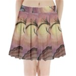 Sunset Swirl - Pleated Mini Skirt