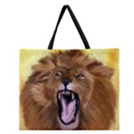 roarinf lion zippered tote - Zipper Large Tote Bag