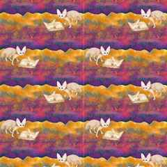 Sand Foxes In The Desert At Night Alternated Sahara Fennec By Paysmage Fabric