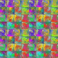 Abstract Incas Square Mix By Paysmage Fabric