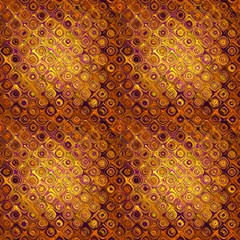 Tresor Gold And Rust  By Paysmage Fabric