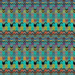Lava Lamp Alternates Chevrons Emerald Liquid Jungle By Paysmage Fabric