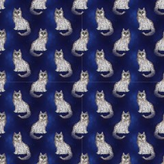 Cat Starry Night By Paysmage Fabric